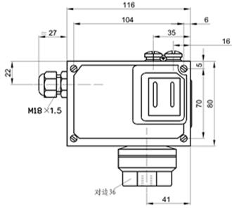 压力控制器、尺寸图