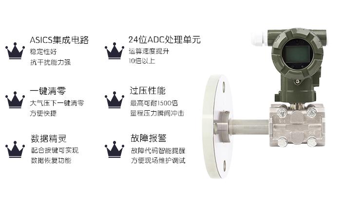 智能高精度单晶硅平膜法兰/插筒法兰液位变送器008